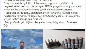 Gavur Dağı'nda bulduğu Osmanlı-Rus Savaşında kullanılan mühimmatları sosyal medyada paylaşınca gözaltına alındı