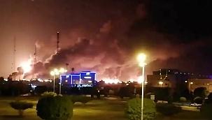 Husiler dünyanın en büyük petrol terminaline saldırdı, Brent petrol sıçrama yaptı! (Video)