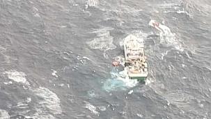 Kuzey Atlantik'te nefes kesen kurtarma: 31 mürettebat kurtarıldı! (Video)