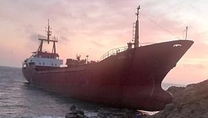 Türk bayraklı gemi Bozcaada'nın doğusunda karaya oturdu!