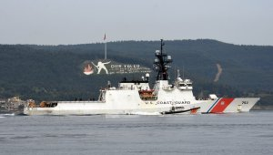 ABD Sahil Güvenlik gemisi Çanakkale Boğazı'ndan geçti!