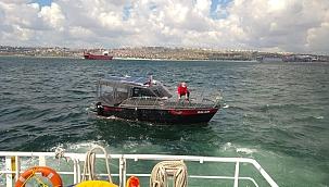 Ambarlı açıklarında sürüklenen tekne KEGM ekiplerince kurtarıldı!