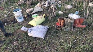 Kilosu 30 dolar eden tatlı su salyangozu kaçak avlayan 2 kişi yakalandı