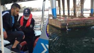 Köprüden denize atlayan şahsı yolcu teknesi kaptanı kurtardı!