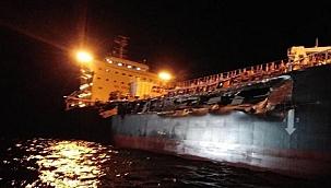 Maersk tankeri Yunan dökme yük gemisiyle çarpıştı: 15 metrelik yarıklar oluştu! (Video)