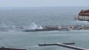 Şile Limanı'nda gemide yangın paniği!
