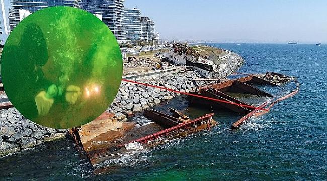 Streamline isimli dev gemi su altında parçalanıyor!