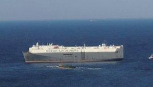 Tuzla'da karaya oturan gemiyi kurtarma çalışmaları havadan görüntülendi!