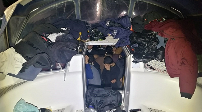 Yelkenli teknede 114 göçmen yakalandı!