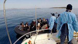 Çanakkale açıklarında 56, Ayvalık'ta 63 düzensiz göçmen kurtarıldı!
