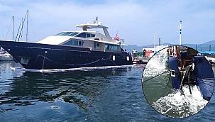 İzmir'de su alan tekneye KEGM müdahale etti!
