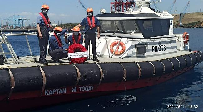 Kılavuz Kaptan Şakir Sabuncuoğlu'nu meslektaşları unutmadı...