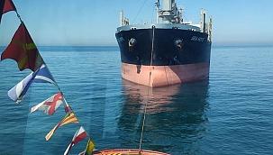 Makine arızası yapan 179 metrelik gemiye KEGM müdahale etti!