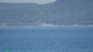 Rus mayın tarama gemisi 'Kovrovets' Çanakkale Boğazı'ndan geçti!
