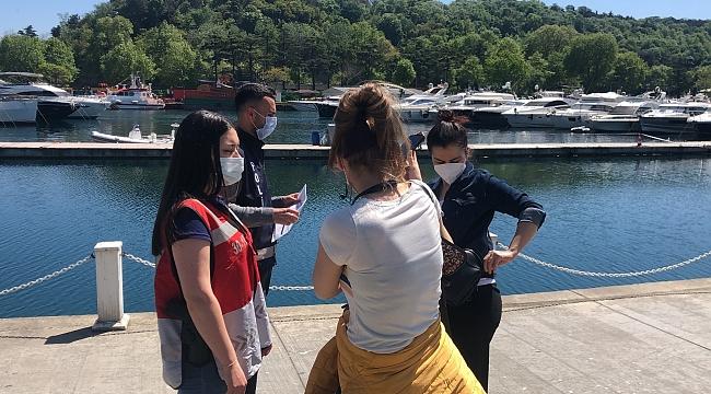 Sarıyer'de denize girdiler, polisi görünce giyinemeden kaçtılar!