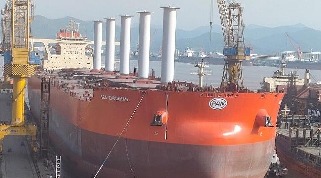 Vale, rotor yelken teknolojisini dev dökme yük gemisinde deniyor!