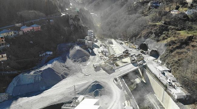Yeni Zigana Tüneli'nde kazı çalışmalarının yüzde 90'a yakını tamamlandı