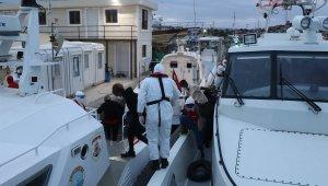 Yunanlılar tarafından geri itilen 39 düzensiz göçmen kurtarıldı