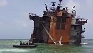 Dalgıçlar batan konteyner gemisi X-Press'in kara kutusunu çıkardı!