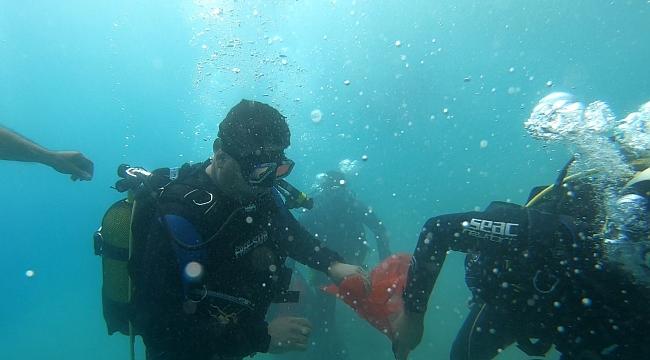Fethiye Ölüdeniz lagününde deniz temizliği!
