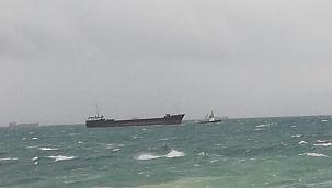 Kartal açıklarında demir tarayarak sürüklenen gemiye KEGM müdahale ediyor!