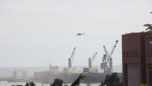 Samsun Limanı'nda toz dumana karıştı!