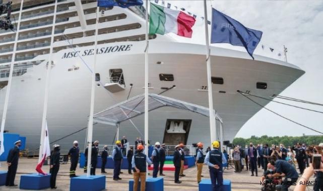 MSC Seashore teslim edildi: İtalya'da inşa edilen en büyük kruvaziyer gemisi!