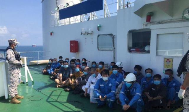 Malezya, izinsiz demirleyen 2 gemiyi tutukladı!