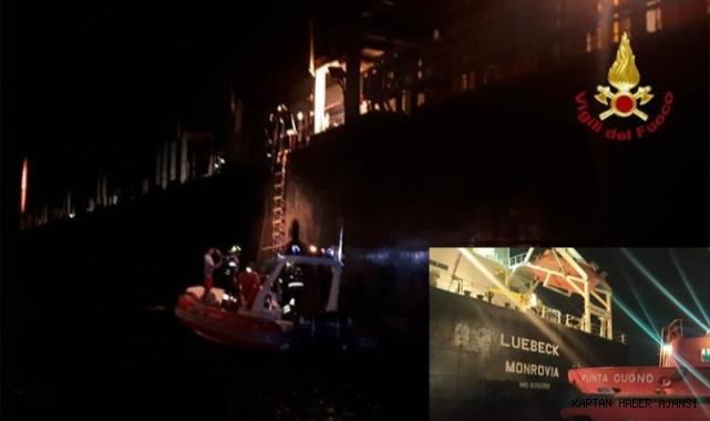 Sicilya'da konteyner gemisinde yangın çıktı!