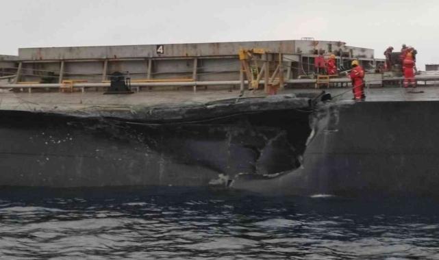 Marmara Denizi'nde çarpışan gemilerin hasar tespiti yapıldı!