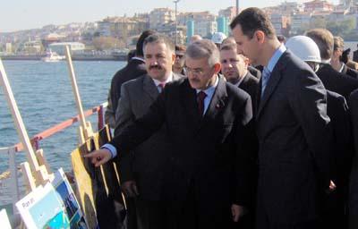 Beşar Esad, Marmaray'ı İnceledi