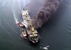 Flaş! Akdeniz'de Tankerler çatıştı
