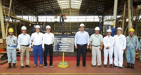 Ayships'in 3. 64.000 tonluk gemisinin sac kesimi gerçekleşti